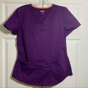 Purple scrub top small scrubstar